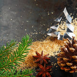 Christmas background for a greeting card Stock Photography