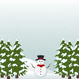 Christmas Background Greeting Card, Happy new year. Christmas, happy new year, background, holiday, snow, snowfall, snowman, greeting, card, santa, star, cold Stock Photos