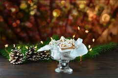 Christmas background, greeting card with lights Royalty Free Stock Photography