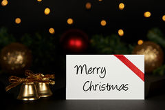 Christmas background with greeting card Stock Photography