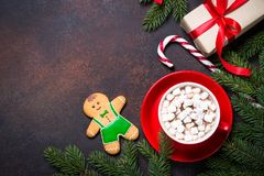 Christmas background or greeting card. stock photo