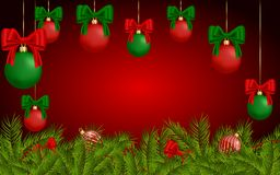 Christmas background for greeting card Stock Photos
