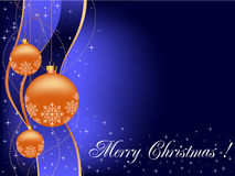 Christmas background or greeting card with space f Royalty Free Stock Photo