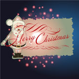 Christmas background and greeting card vector Stock Photos