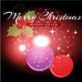 Christmas background and greeting card vector Royalty Free Stock Photography