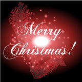 Christmas background and greeting card vector Royalty Free Stock Image
