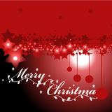 Christmas background and greeting card vector Stock Photography