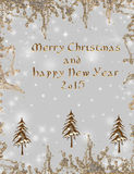 Christmas  background. Greeting background with golden adds Stock Photo
