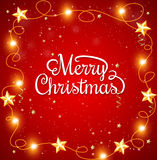 Christmas background with greeting inscription Royalty Free Stock Photography