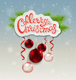 Christmas background with greeting inscription Royalty Free Stock Photos
