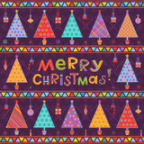 Christmas background with greeting text Stock Image