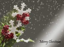 Christmas Background on grey background royalty free stock images
