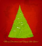 Christmas  background with hand drawn fir Stock Image