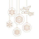 Christmas background with Handwritten Lettering MERRY CHRISTMAS. vector illustration