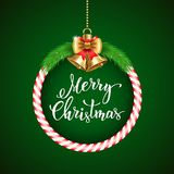 Christmas background with  handwritten text Stock Images