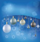 Christmas background with hanging ball Royalty Free Stock Photos