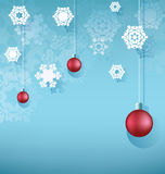 Christmas background with hanging ball Stock Images