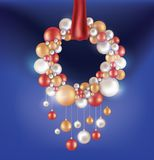 Christmas background with hanging ball Royalty Free Stock Image