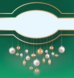 Christmas background with hanging ball Stock Photos