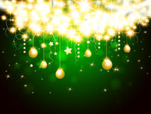 Christmas background. With hanging stars and balls Royalty Free Stock Images