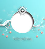 Christmas Background. Happy 2016 Holidays Background With Balls, Deers And Title Inscription With Shadows Stock Photo