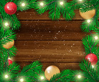 Christmas background. Happy new Year. Vector illustration. Royalty Free Stock Images