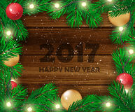 Christmas background. Happy new Year. Vector illustration. Christmas background. Happy new Year. Vector illustration Stock Photo