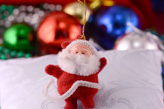 Christmas background with happy santa claus, xmas Royalty Free Stock Image