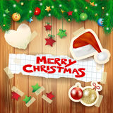 Christmas background with hat and text. Vector illustration eps10 Royalty Free Stock Photo