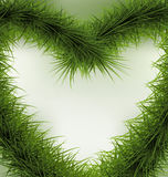Christmas Background  heart shaped wreath Royalty Free Stock Photo