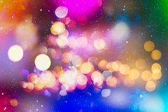 Festive Christmas background. Elegant abstract background with bokeh defocused lights and stars. Christmas Background.Holiday Abstract Glitter Stock Images