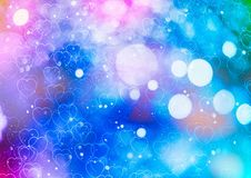 Festive Christmas background. Elegant abstract background with bokeh defocused lights and stars. Christmas Background.Holiday Abstract Glitter Royalty Free Stock Photo