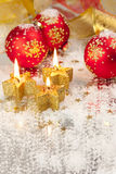 Christmas Background / Holiday Candles Royalty Free Stock Images