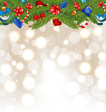 Christmas background with holiday decoration Royalty Free Stock Photography