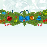 Christmas background with holiday decoration Stock Photos