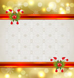 Christmas background with holiday decoration Stock Image