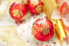 Christmas Background / Holiday Decorations Royalty Free Stock Images