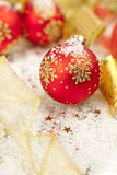 Christmas Background / Holiday Decorations Royalty Free Stock Photo