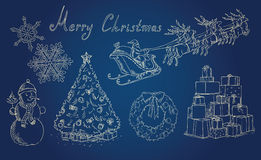 Christmas background with holiday items Royalty Free Stock Photography