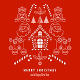 Christmas background with holiday items. royalty free illustration
