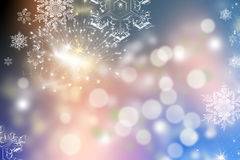 Christmas background with holiday lights Stock Photos