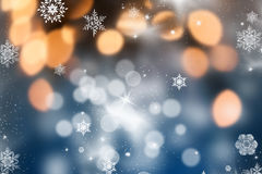 Christmas background with holiday lights Stock Photo