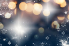 Christmas background with holiday lights Royalty Free Stock Image
