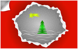 Christmas background. Christmas holiday background with christmas tree and comet Stock Images