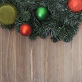 Christmas background. Christmas holiday Background on wood Stock Photos
