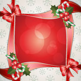 Christmas background with holly berry Royalty Free Stock Images