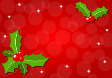 Christmas background with holly Royalty Free Stock Images