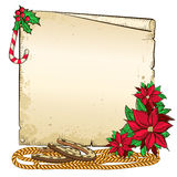 Christmas background with horseshoe and paper for  Stock Photo