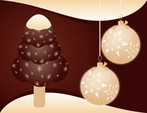 Christmas background with ice-cream Stock Image