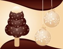 Christmas background with ice-cream Stock Photo